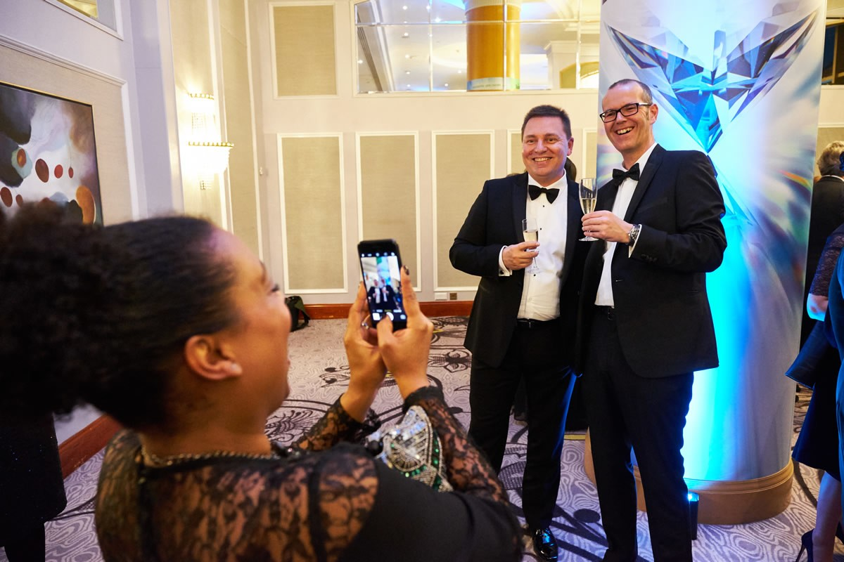 guests enjoying themselves at the Law Society Awards