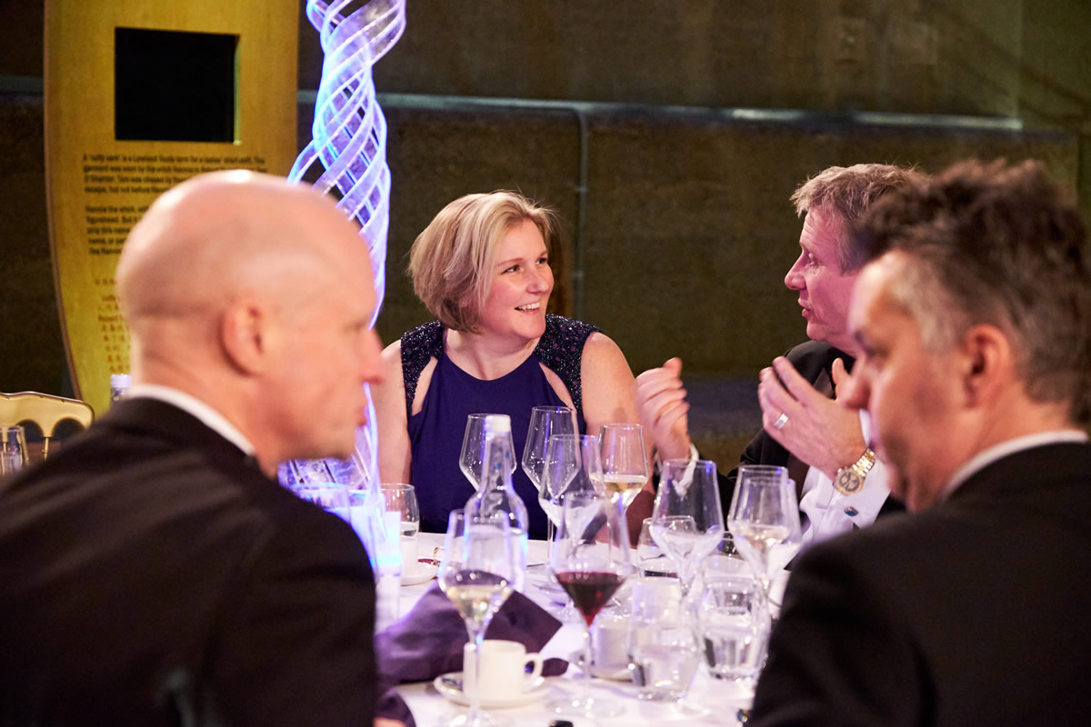 guests enjoying themselves during the meal at a Cutty Sark event
