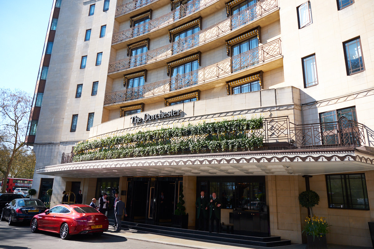 The exterior of the Dorchester in London