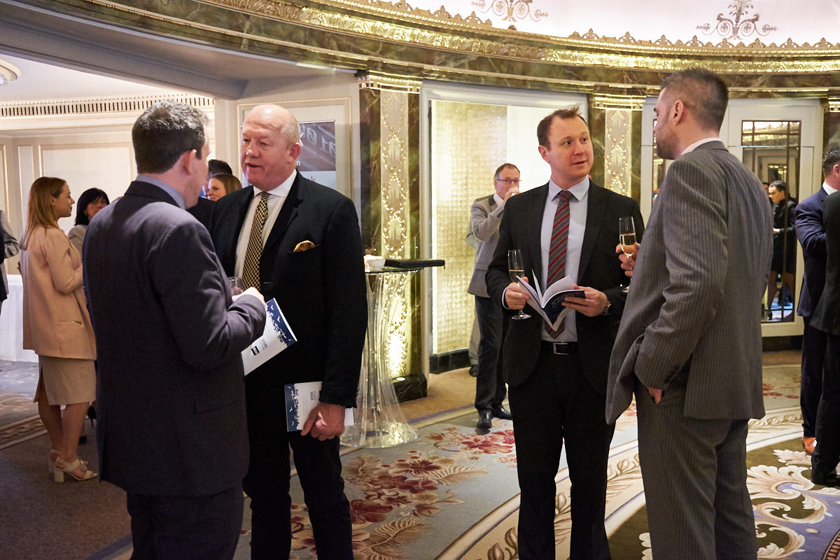 guests at an event at the Dorchester