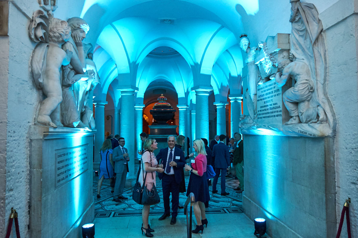 an event in the Crypt at St Paul's Cathedral