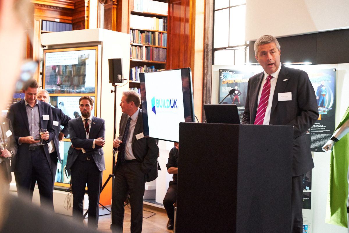 the chairman of Build UK making a speech