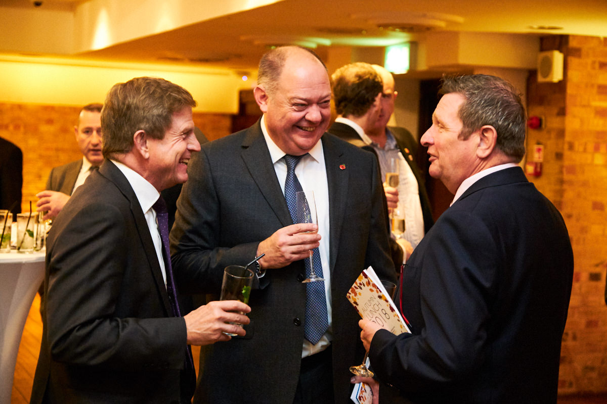 guests enjoying themselves at a corporate event in London