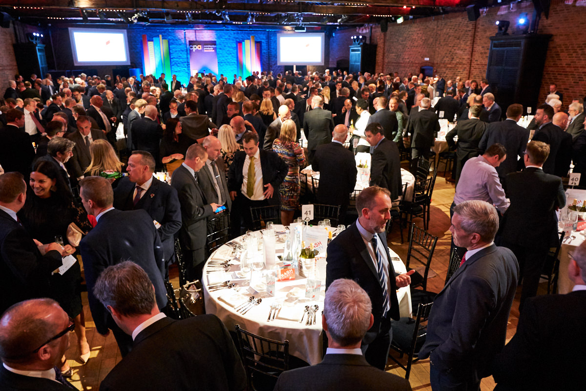 a wide view of an event at The Brewery in London
