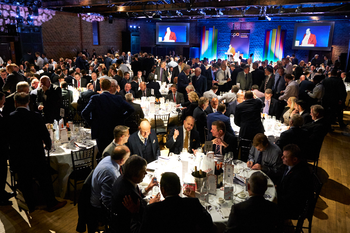 a wide view of guests at The Brewery in London