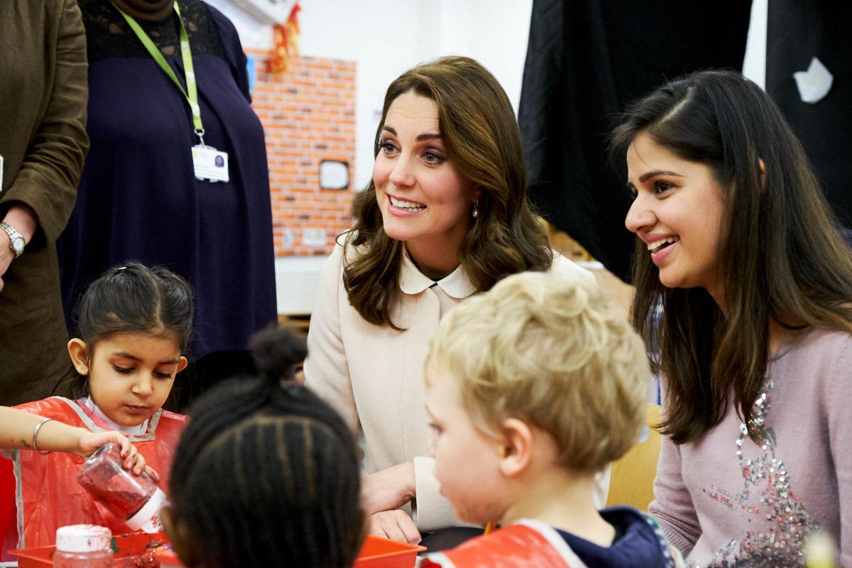 The Duchess of Cambridge smiling