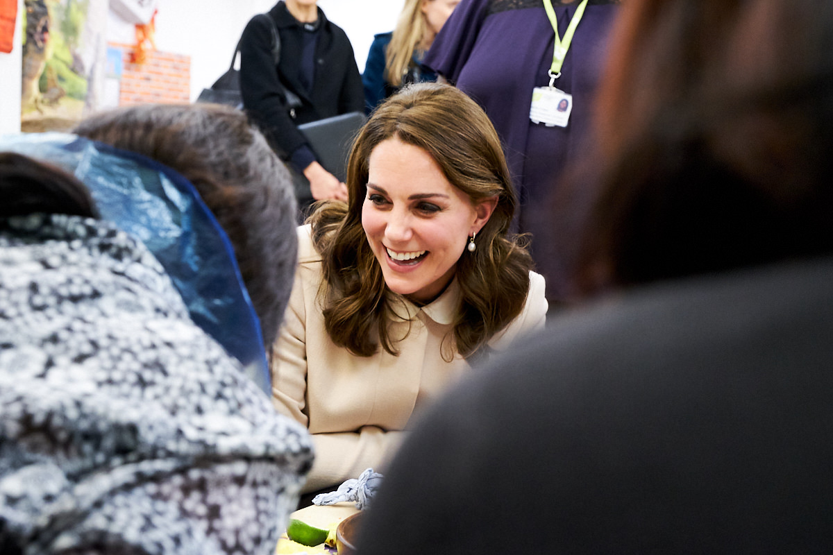 The Duchess of Cambridge laughing