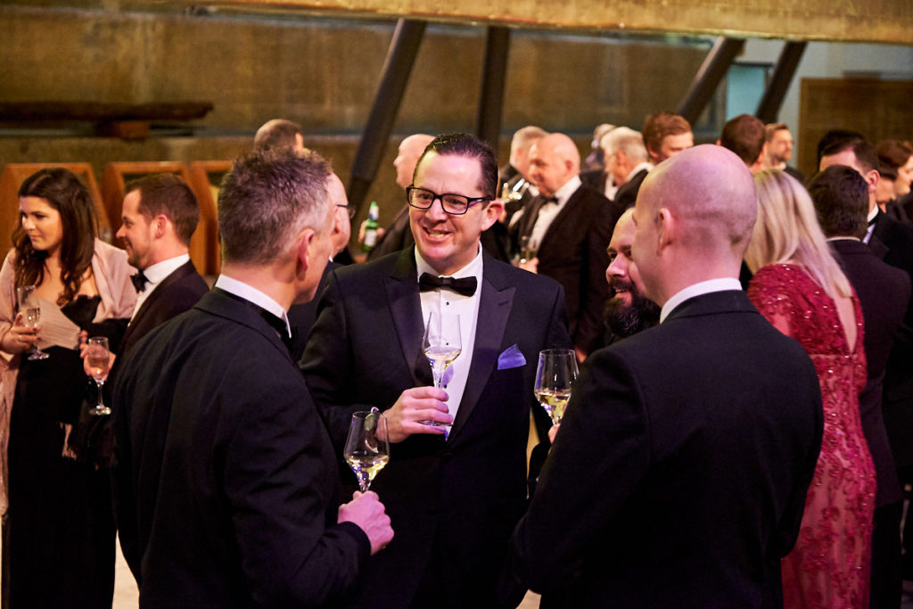 Guests talking at an event