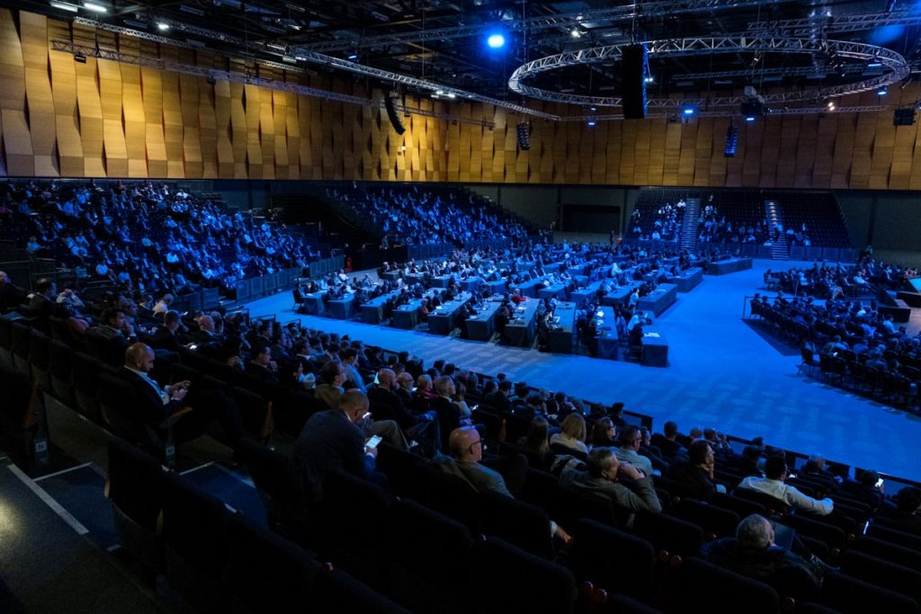 A conference hall at ExCeL London